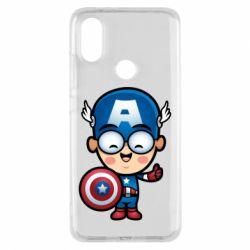 Чехол для Xiaomi Mi A2 Маленький Капитан Америка
