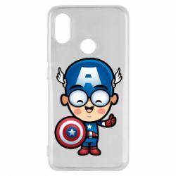 Чехол для Xiaomi Mi8 Маленький Капитан Америка
