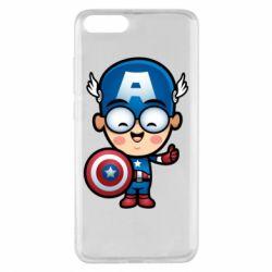 Чехол для Xiaomi Mi Note 3 Маленький Капитан Америка