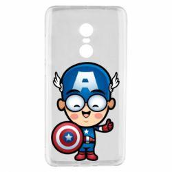 Чехол для Xiaomi Redmi Note 4 Маленький Капитан Америка