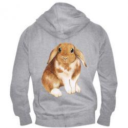 Чоловіча толстовка на блискавці Маленький кролик