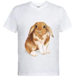 Чоловіча футболка з V-подібним вирізом Маленький кролик