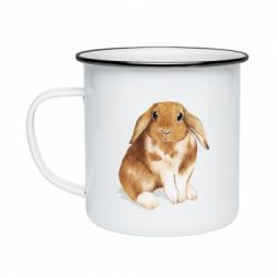 Кружка емальована Маленький кролик