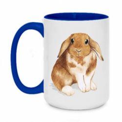 Кружка двоколірна 420ml Маленький кролик