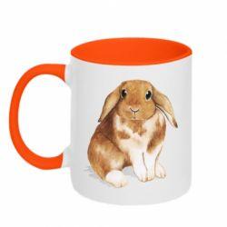 Кружка двоколірна 320ml Маленький кролик