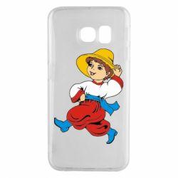 Чехол для Samsung S6 EDGE Маленький українець - FatLine