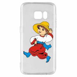 Чехол для Samsung S7 Маленький українець - FatLine