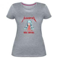 Жіноча стрейчева футболка Малятко