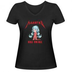 Жіноча футболка з V-подібним вирізом Малятко