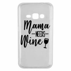 Чехол для Samsung J1 2016 Mama need wine