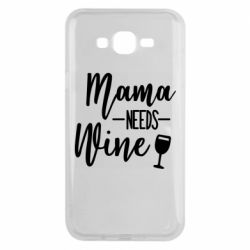 Чехол для Samsung J7 2015 Mama need wine