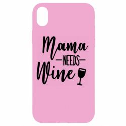 Чехол для iPhone XR Mama need wine