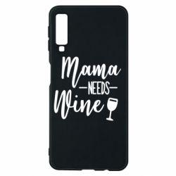 Чехол для Samsung A7 2018 Mama need wine
