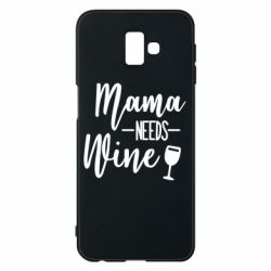 Чехол для Samsung J6 Plus 2018 Mama need wine