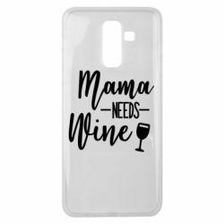 Чехол для Samsung J8 2018 Mama need wine