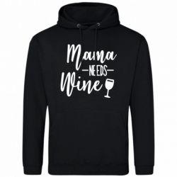 Мужская толстовка Mama need wine