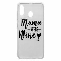 Чехол для Samsung A20 Mama need wine
