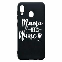 Чехол для Samsung A30 Mama need wine