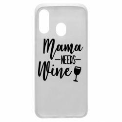 Чехол для Samsung A40 Mama need wine