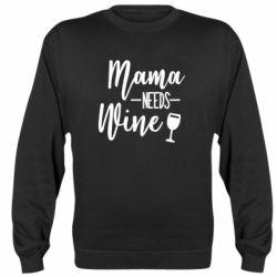 Реглан (світшот) Mama need wine