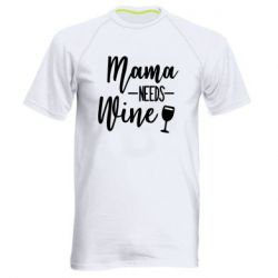 Мужская спортивная футболка Mama need wine