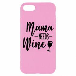 Чехол для iPhone 7 Mama need wine