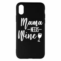 Чехол для iPhone X/Xs Mama need wine