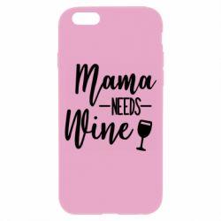 Чехол для iPhone 6/6S Mama need wine
