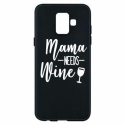 Чохол для Samsung A6 2018 Mama need wine