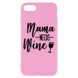 Чехол для iPhone 8 Mama need wine