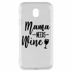 Чехол для Samsung J3 2017 Mama need wine