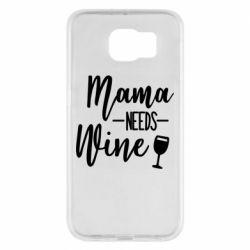 Чехол для Samsung S6 Mama need wine