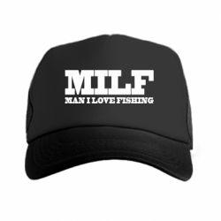 Кепка-тракер Man I Love Fishing