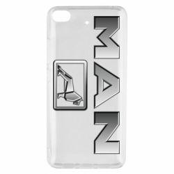 Чехол для Xiaomi Mi 5s Man logo and lion