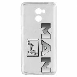 Чехол для Xiaomi Redmi 4 Man logo and lion