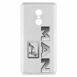 Чехол для Xiaomi Redmi Note 4x Man logo and lion