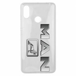 Чехол для Xiaomi Mi Max 3 Man logo and lion