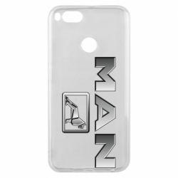 Чехол для Xiaomi Mi A1 Man logo and lion