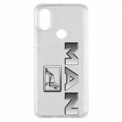 Чехол для Xiaomi Mi A2 Man logo and lion