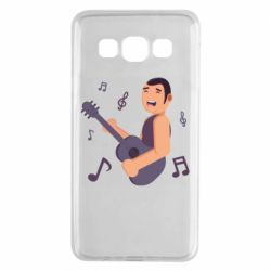 Чехол для Samsung A3 2015 Man playing the guitar flat vector