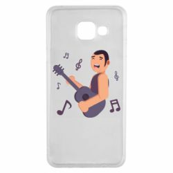 Чехол для Samsung A3 2016 Man playing the guitar flat vector