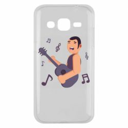 Чехол для Samsung J2 2015 Man playing the guitar flat vector