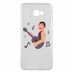 Чехол для Samsung J4 Plus 2018 Man playing the guitar flat vector