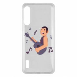 Чохол для Xiaomi Mi A3 Man playing the guitar flat vector