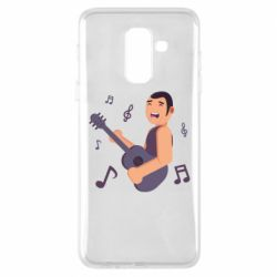 Чехол для Samsung A6+ 2018 Man playing the guitar flat vector