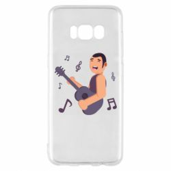 Чехол для Samsung S8 Man playing the guitar flat vector