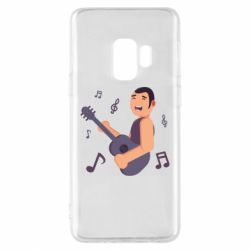 Чехол для Samsung S9 Man playing the guitar flat vector