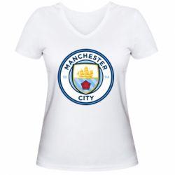 Жіноча футболка з V-подібним вирізом Manchester City