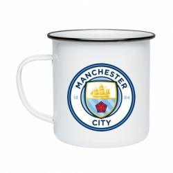 Кружка емальована Manchester City