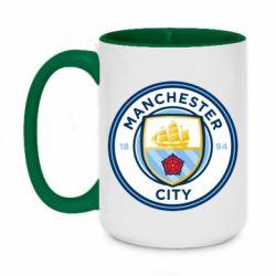 Кружка двоколірна 420ml Manchester City